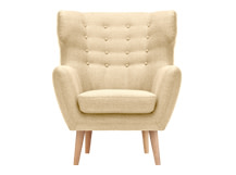 Kubrick Wing Back Chair, Barley Beige