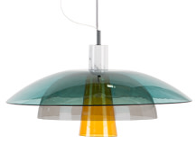 Lab Ceiling Pendant, Teal, Deep Grey and Mustard