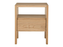 Ledger Bedside Table, Oak