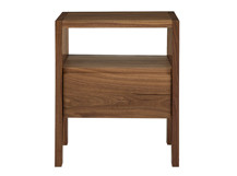 Ledger Bedside Table, Walnut