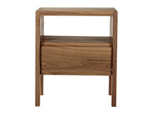 Ledger Bedside Table, Dark Stain Elm