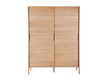 Ledger Sliding Wardrobe, Oak