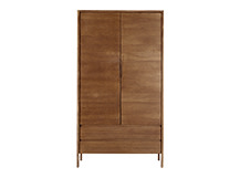 Ledger Wardrobe, Dark Stain Elm