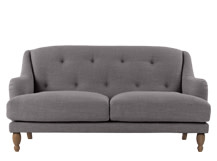 Ariana 2 Seater Sofa, Graphite Grey