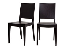 2 x Loki Dining Chairs, Dark Stain Oak