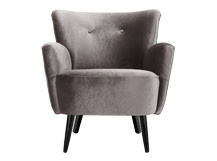 Lotus Armchair, Silver Grey