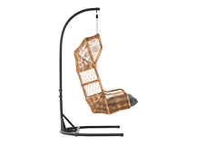 Lyra Outdoor Hanging Chair, Charcoal Grey