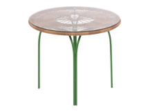 Lyra Outdoor Round Dining Table, Green