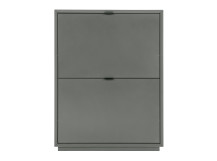 Marcell Small Shoe Storage Cabinet, Grey