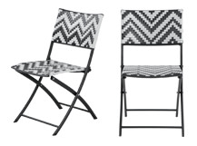 2 x Maui Outdoor Bistro Chairs, Monochrome