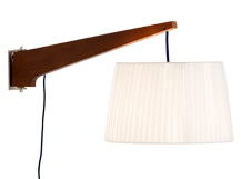 Miller Wall Lamp, Walnut and Navy