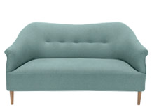 Millie 2 Seater Sofa, Teira Blue