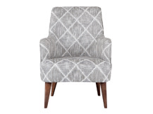 Molly Armchair, Diamond Stripe Grey
