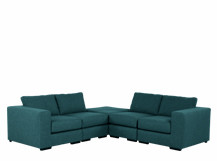 Mortimer Modular Corner Sofa Group, Shadow Teal
