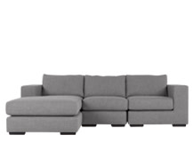 Mortimer 4 Seater Modular Corner Sofa, Shadow Slate Grey