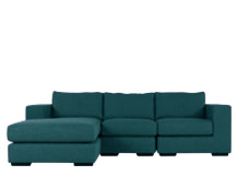 Mortimer 4 Seater Modular Corner Sofa, Shadow Teal