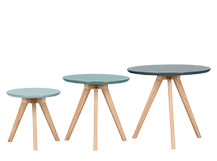 3 x Orion Side Tables, Blue