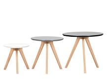 3 x Orion Side Tables, Grey