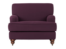 Orson Armchair, Pansy Purple