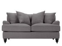 Orson Scatter Back 2 Seater Sofa, Graphite Grey