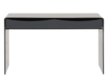 Phane Console Table, Smoked Grey Glass
