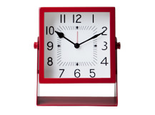 Atticus Large Table Clock, Red