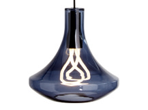 Plume Pendant Lamp and Plumen 001 Bulb, Smoke Blue