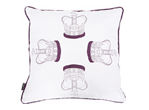 Regal Square Scatter Cushion 45 x 45cm, Ermine White
