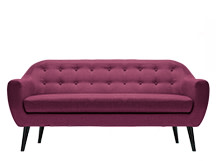 Ritchie 3 Seater Sofa, Plum Purple