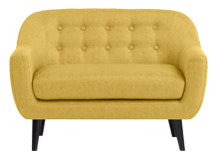 Mini Ritchie 2 Seater Sofa, Ochre Yellow