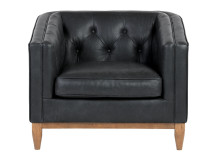 Rogers Armchair, Oxford Black Premium Leather