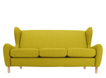 Rubens 3 Seater Sofa, Kelp Green Wool Mix