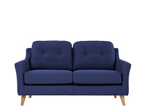 Rufus 2 Seater Sofa, Dark Cobalt Blue