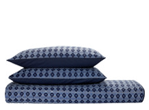 Safi Double 100% Cotton Bed Set, Ink Blue