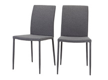 2 x Scarpa Dining Chairs, Light Grey