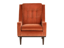 Scott Armchair, Burnt Orange Cotton Velvet