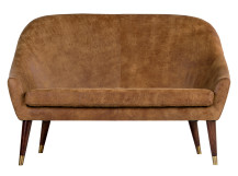 Seattle 2 seater Sofa, Outback Tan Premium Leather