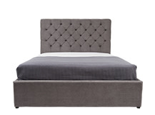Skye Kingsize Bed With Storage, Pewter