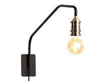 Starkey Wall Lamp, Black and Brass