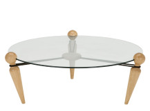 Trengilly Coffee Table, Oak and Glass