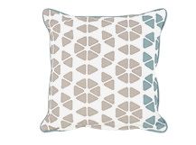 Trio Cushion 45 x 45cm, Grey and Blue