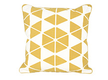 Trio Cushion 45 x 45cm, Mustard