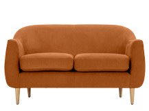 Tubby 2 Seater Sofa, Lava Orange