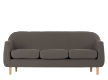 Tubby 3 Seater Sofa, Pewter Grey