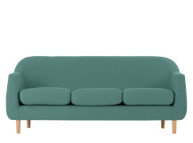 Tubby 3 Seater Sofa, Soft Teal