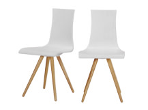 2 x Devlin Dining Chairs, White