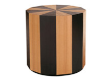 Moritz Side Table, Natural and Dark Stain Ash