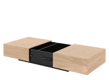 Arjan Coffee Table, Oak and Black Gloss