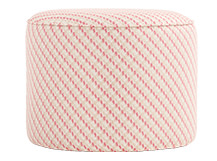 Lulu Small Pouffe, Neutral and Raspberry
