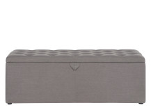 Bergerac Storage Bench, Graphite Grey
